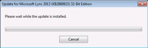 Installing Update