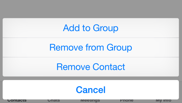 Existing contacts